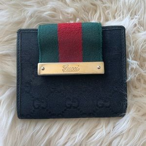 Black Monogram Gucci Wallet
